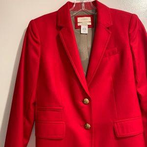 J. Crew Schoolboy blazer in red